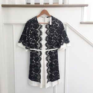 Ark & Co. Black & white lace dress NWT
